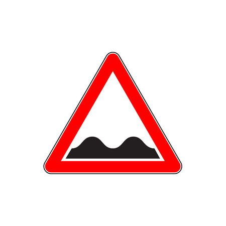 Indicating road sign for Speed Bumps or Uneven Road
