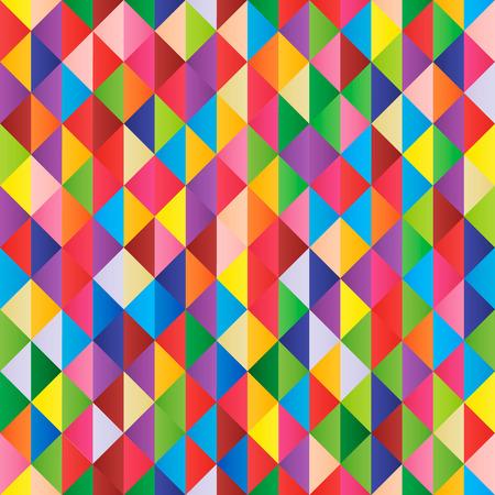 Fondo senza cuciture di vettore geometrico multicolore astratto? Vettoriali