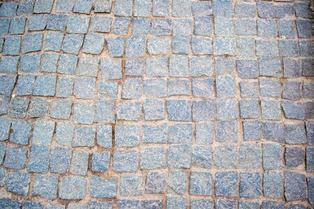 Perspective view on street pavement