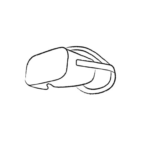 Virtual reality glasses icon simple vector
