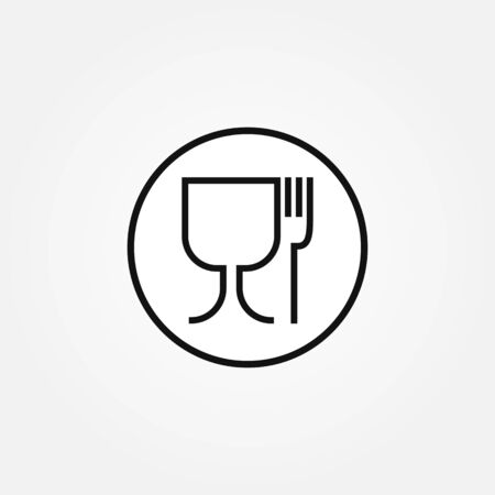 Non-toxic material vector sign. Food safe icon.