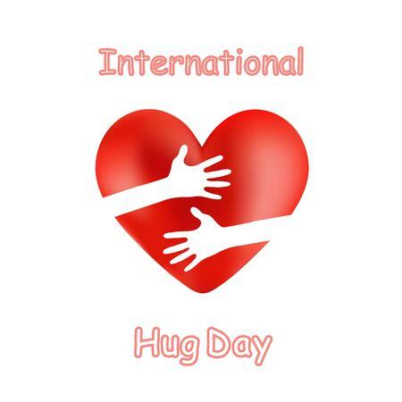 International Hug Day Vector Illustration