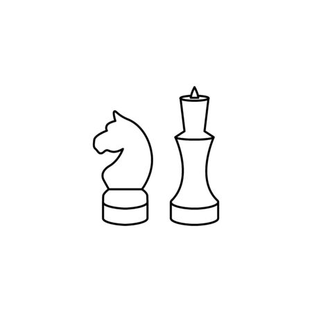 Horse and king chess icon figures vector Ilustrace