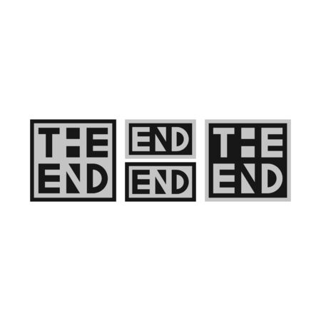 The end - vector self-made text set isolated on white background