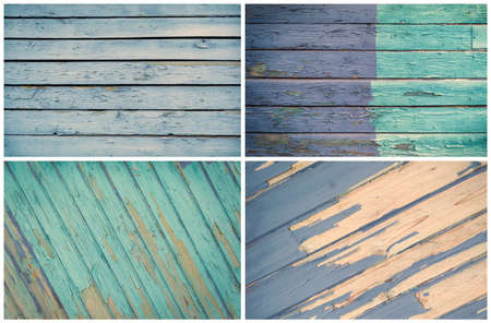 Set of different painted wooden texture boards