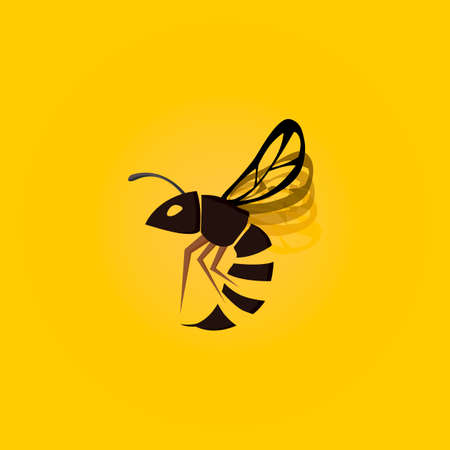 Wasp insect icon vector