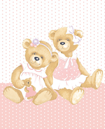 Girls Teddy Bears photo