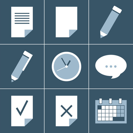 organizer  icon set Vector