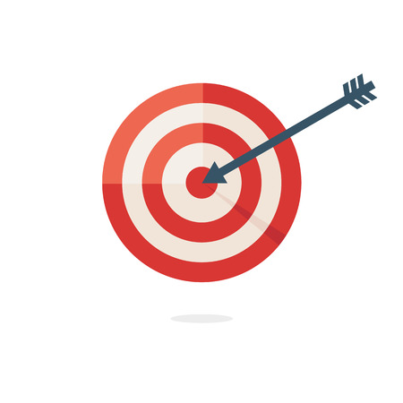 aim: Darts target aim Illustration