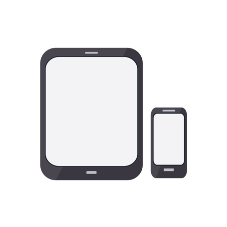render of an smart phone and a tablet PC Vector