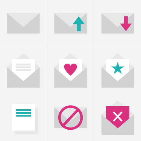 office romance: mail  icons Illustration
