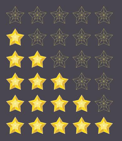 Five stars rating Stock Photo
