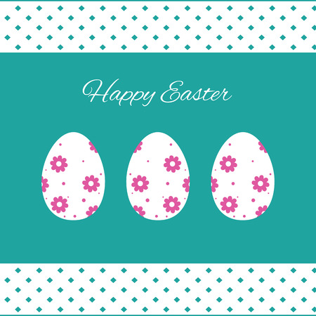Happy easter cards illustration with easter eggs Vector