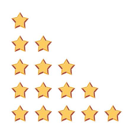 satined: Five stars rating Illustration