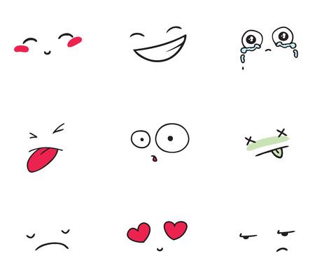 set of smiles Vector