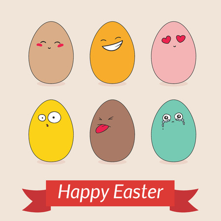 Happy Easter Retro Design Template Royalty Free Cliparts Vectors – Easter Card Template