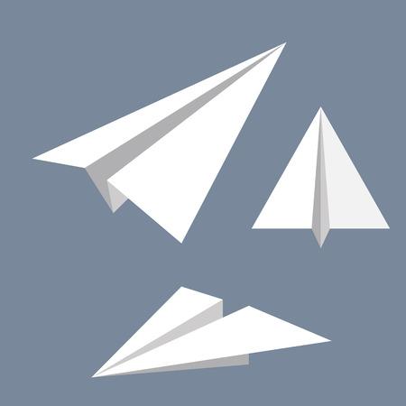 紙飛行機のベクトル イラスト