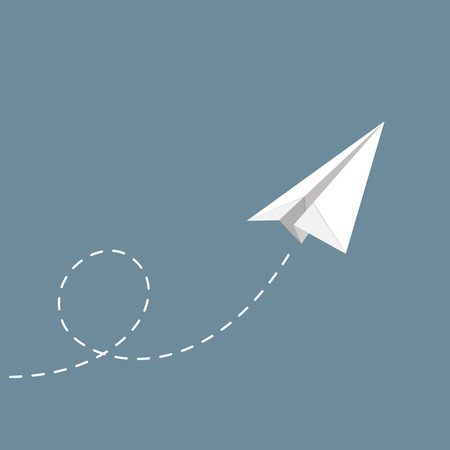view from the plane: vector illustration of Paper plane