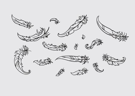 羽のベクトル イラストのイラスト素材ベクタ Image 18500284