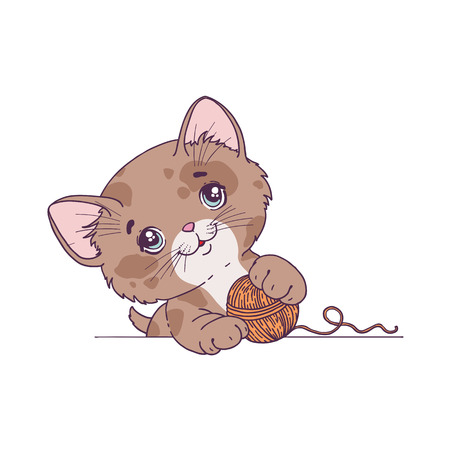 Funny cat. Vector illustration Illustration