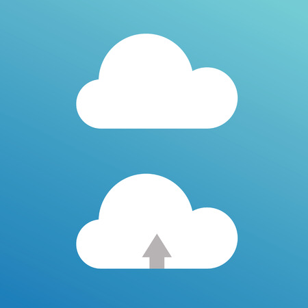 Cartoon  clouds. Illustration on blue background for design icon, Vector