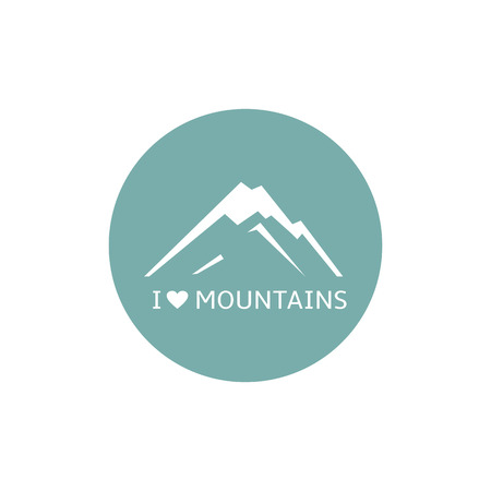 Mountains  icon, vector, sign, symbol, abstract, isolated, rock Vector