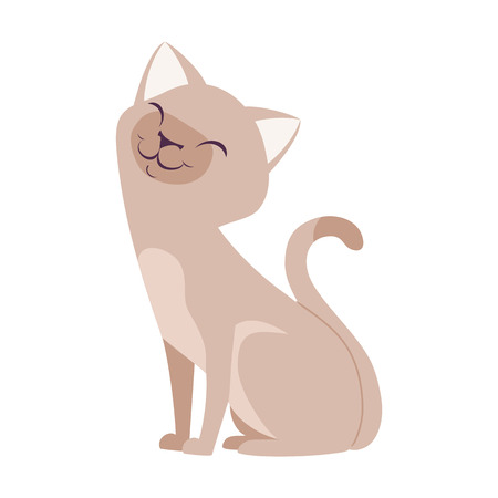 Cute Cartoon Cats cute ,animal , little Vector