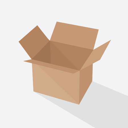 brown box: Recycle brown box packaging. vector illustration, pack