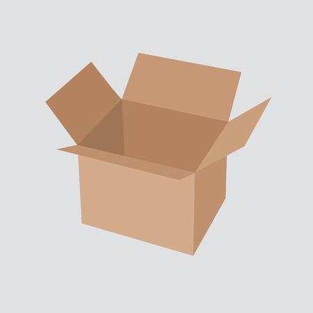 brown box: Riciclare imballaggio della scatola marrone.