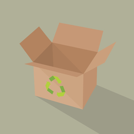 brown box: Recycle brown box packaging. Illustration