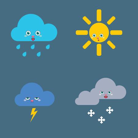 meteorologist: Icons set Weather Illustration
