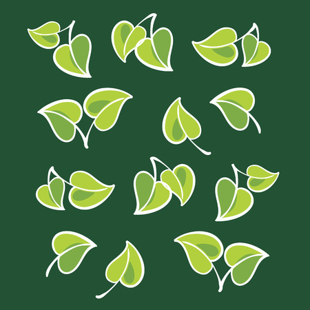 venation: Vector leafs, isolated Illustration