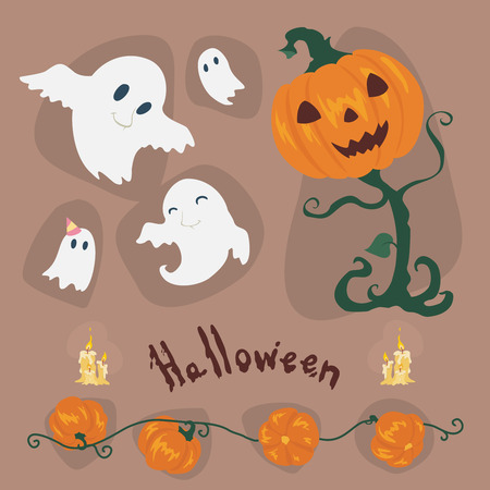 Halloween vector Icons set . Vector