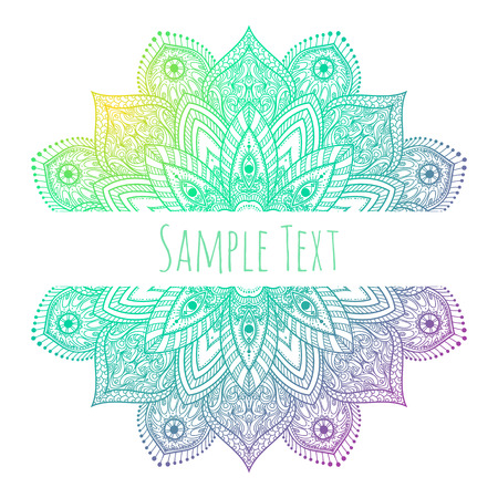 an amulet: Vector Beautiful Mandala illustration. abstract background art