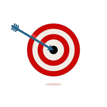 sharpshooter: red and white target on a white background. vector illustration Illustration
