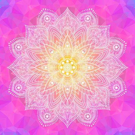 Mandala. Weinlese-dekoratives Element. Ethnische runde Verzierung Standard-Bild - 56423140