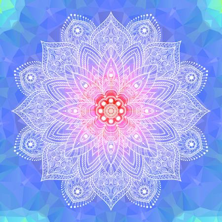 Mandala. Elemento decorativo d'epoca Ornamento etnico rotondo