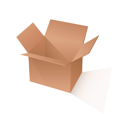 brown box: brown box packaging. vector illustration on white backgrond Illustration