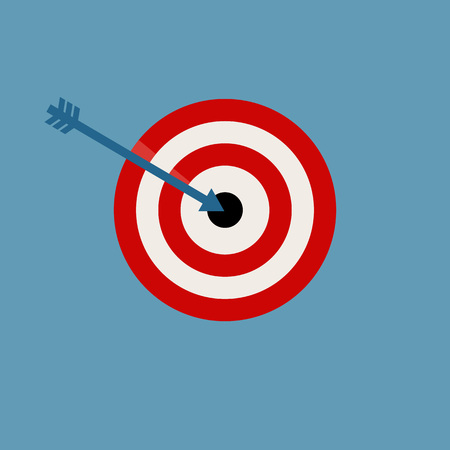 sharpshooter: Target Vector Illustration isolated on blue background