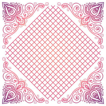 serviette: vector Indian floral ornament for serviette pattern, vintage textile.