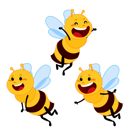 honey and Bee character, honey vector, bee illustration