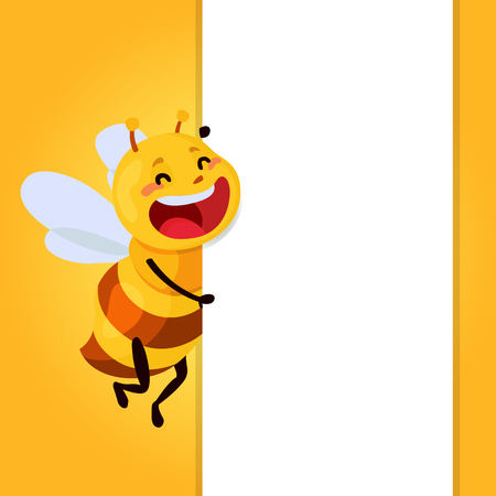 Honey and Bee illustration Illustration