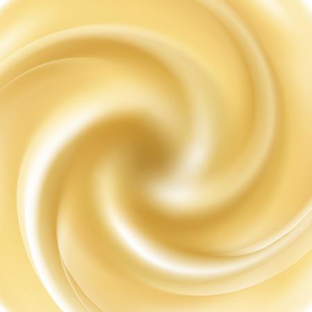 Vector yogurt swirl ice cream background.