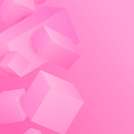 Vector Illustration of abstract 3d cubes. Illustration