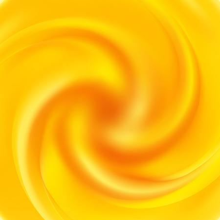 Yellow swirl background. Abstract orange swirl