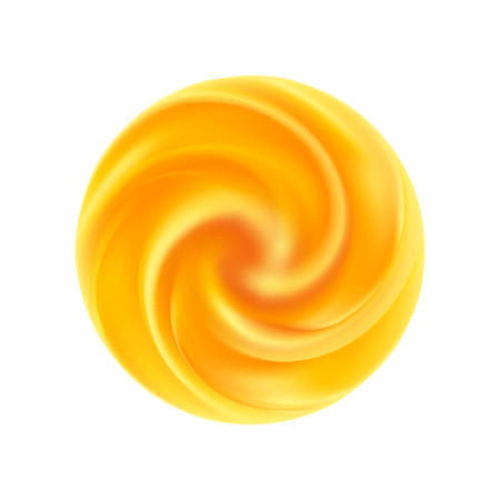 Yellow swirl background. Abstract orange swirl