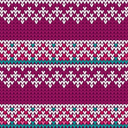 Traditional Fair Knitted Pattern.