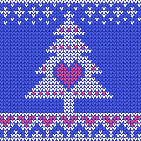Traditional Fair Knitted Pattern. Christmas and New Year Design Background Illustration