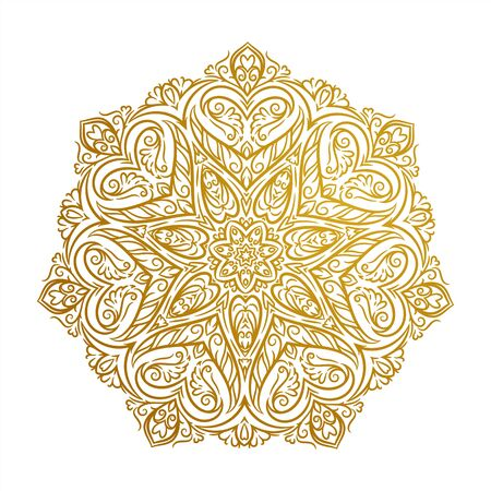 Vector Beautiful Mandala. Vintage decorative round ornament