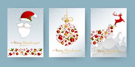Merry Christmas decoration for holiday vector illustration. Banque d'images - 137351484